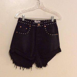 NWT One x One Teaspoon black oak high waist shorts